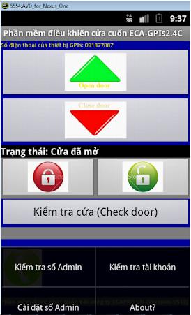 Bộ ĐK cửa, cổng bằng điện thoại di động, ECA-GPIs2.4C-Android