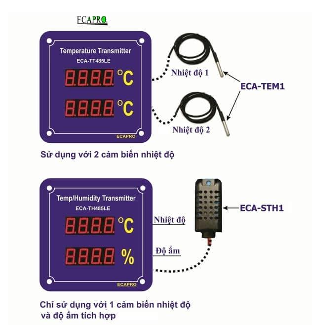 Led hiển thị nhiệt độ và độ ẩm truyền thông RS485
